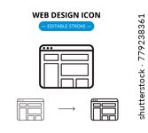 web design line icon with...