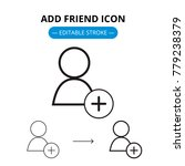 add friend line icon with... | Shutterstock .eps vector #779238379