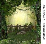 3d rendering of a enchanting...   Shutterstock . vector #779239759