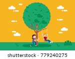 children  boy and girl ... | Shutterstock .eps vector #779240275