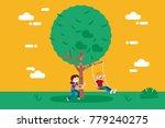 children  boy and girl ... | Shutterstock .eps vector #779240275