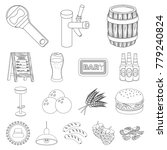 pub  interior and equipment... | Shutterstock .eps vector #779240824