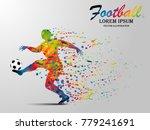 visual drawing football sport... | Shutterstock .eps vector #779241691
