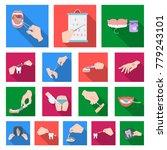 manipulation by hands flat...   Shutterstock .eps vector #779243101