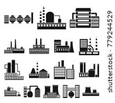 factory and facilities black... | Shutterstock .eps vector #779244529