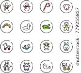 line vector icon set   baby... | Shutterstock .eps vector #779255827