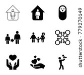 family icons. set of 9 editable ... | Shutterstock .eps vector #779270149