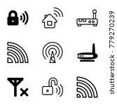 wifi icons. set of 9 editable... | Shutterstock .eps vector #779270239