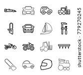 motor icons. set of 16 editable ...   Shutterstock .eps vector #779270245