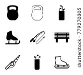 outdoors icons. set of 9... | Shutterstock .eps vector #779270305