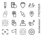 point icons. set of 16 editable ... | Shutterstock .eps vector #779270329