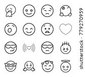 emotion icons. set of 16... | Shutterstock .eps vector #779270959