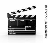 3d illustrated film slate.   Shutterstock . vector #77927110