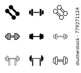 barbell icons. set of 9... | Shutterstock .eps vector #779271124