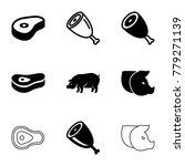 ham icons. set of 9 editable... | Shutterstock .eps vector #779271139
