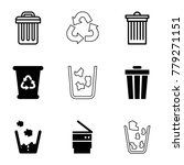 waste icons. set of 9 editable... | Shutterstock .eps vector #779271151