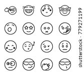 expression icons. set of 16... | Shutterstock .eps vector #779271199