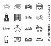 car icons. set of 16 editable...