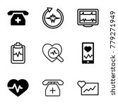 cardiogram icons. set of 9... | Shutterstock .eps vector #779271949