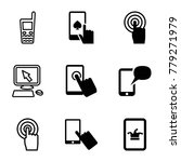 touchscreen icons. set of 9...   Shutterstock .eps vector #779271979