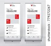 roll up sale banner design... | Shutterstock .eps vector #779272267