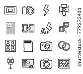 photo icons. set of 16 editable ... | Shutterstock .eps vector #779272411