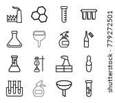 chemical icons. set of 16... | Shutterstock .eps vector #779272501