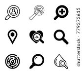 search icons. set of 9 editable ...   Shutterstock .eps vector #779272615