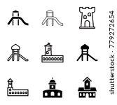 citadel icons. set of 9... | Shutterstock .eps vector #779272654