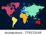 world map. europe asia america... | Shutterstock .eps vector #779273149