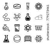 chemistry icons. set of 16... | Shutterstock .eps vector #779273461