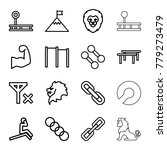 strength icons. set of 16... | Shutterstock .eps vector #779273479