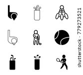 tournament icons. set of 9... | Shutterstock .eps vector #779273521