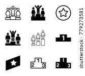 ranking icons. set of 9... | Shutterstock .eps vector #779273581