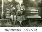 vintage photo of mother and... | Shutterstock . vector #77927782
