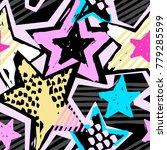 star shapes graffiti seamless... | Shutterstock .eps vector #779285599