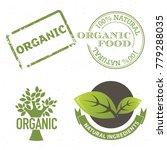 set of natural  fresh  organic... | Shutterstock .eps vector #779288035