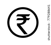 rupee money symbol | Shutterstock .eps vector #779288641