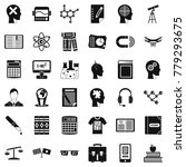 knowledge icons set. simple... | Shutterstock .eps vector #779293675