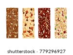 various vector granola bars... | Shutterstock .eps vector #779296927