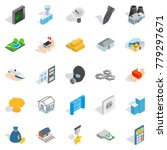 projection icons set. isometric ... | Shutterstock .eps vector #779297671