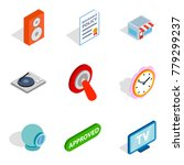 getting information icons set.... | Shutterstock .eps vector #779299237