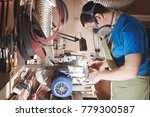 male profession. master knife... | Shutterstock . vector #779300587