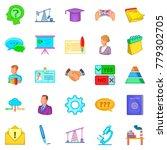 debate icons set. cartoon set... | Shutterstock .eps vector #779302705