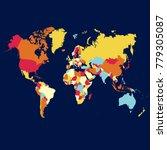political world map | Shutterstock .eps vector #779305087