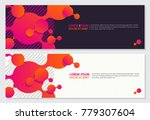 futuristic banner design set on ... | Shutterstock .eps vector #779307604