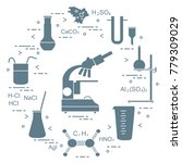 chemistry scientific  education ... | Shutterstock .eps vector #779309029