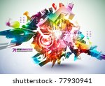 colorful abstract digital art | Shutterstock .eps vector #77930941