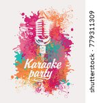 vector banner with microphone... | Shutterstock .eps vector #779311309