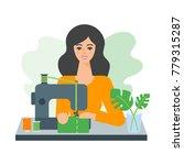 vector illustration of a woman... | Shutterstock .eps vector #779315287